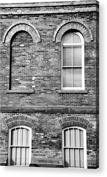 Architecture Acrylic Print featuring the photograph 3 Quaters Black And White by Caroline Clark