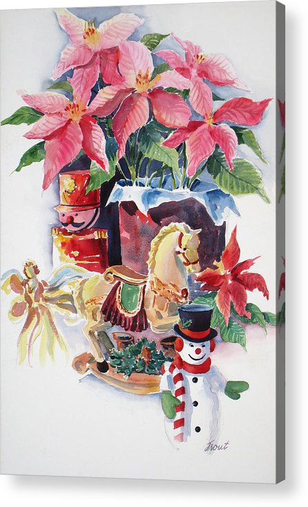 Stilllife Acrylic Print featuring the painting A Christmas Fantasy by Don Trout