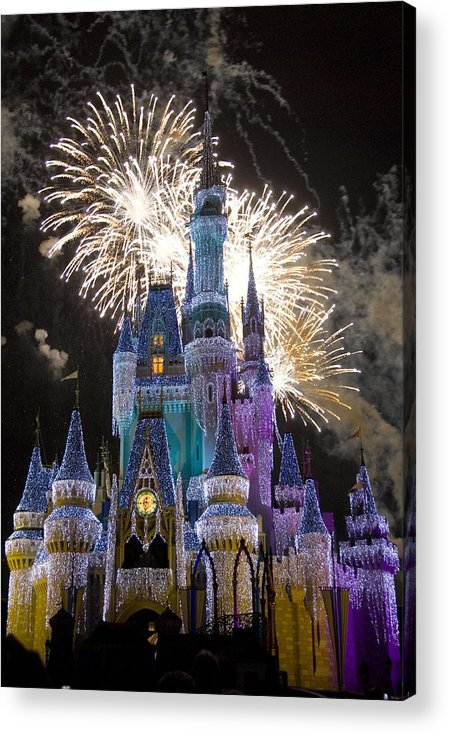 Cinderella Castle Acrylic Print featuring the photograph Cinderella Castle Spectacular by Charles Ridgway