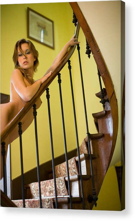 Sensual Acrylic Print featuring the photograph Marie by Olivier De Rycke