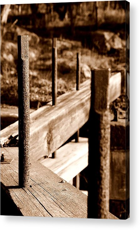 Wood Acrylic Print featuring the photograph Rust And Wood by Caroline Clark