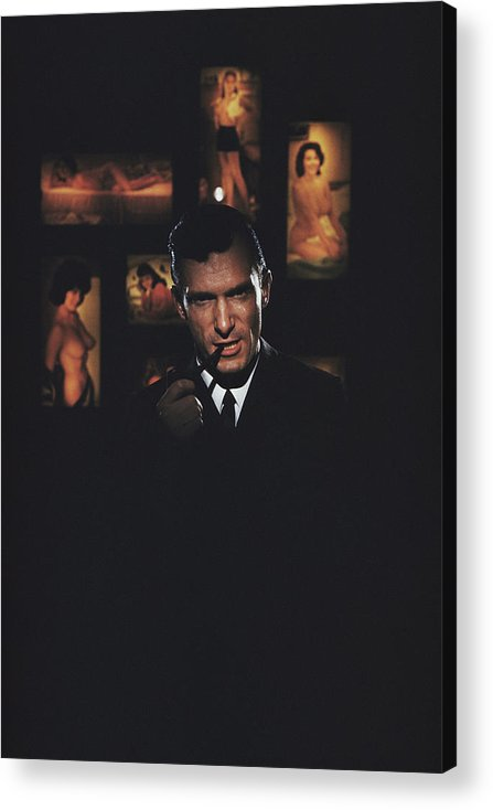 Hugh Hefner Acrylic Print featuring the photograph Hugh Hefner by Slim Aarons