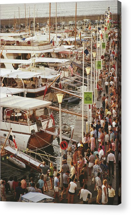Water's Edge Acrylic Print featuring the photograph Saint-tropez Seafront by Slim Aarons