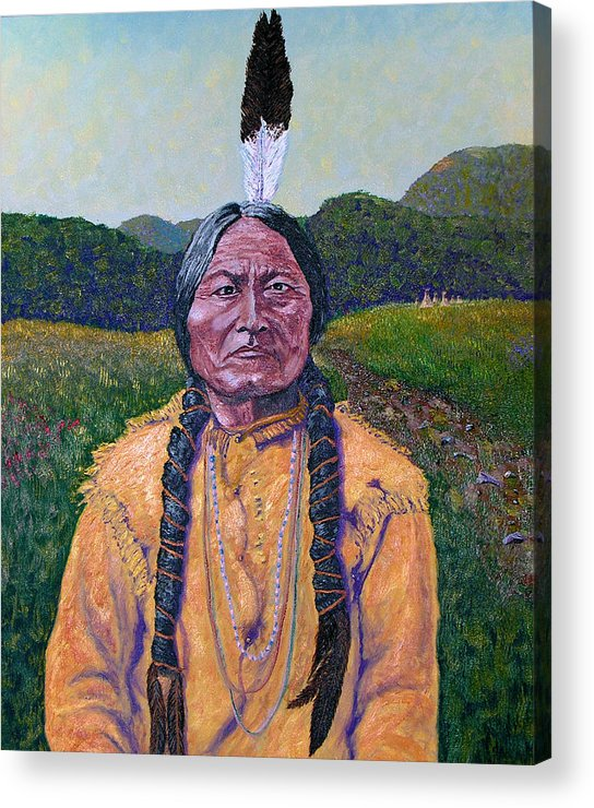 Sitting Bull Acrylic Print featuring the painting Sitting Bull by Stan Hamilton