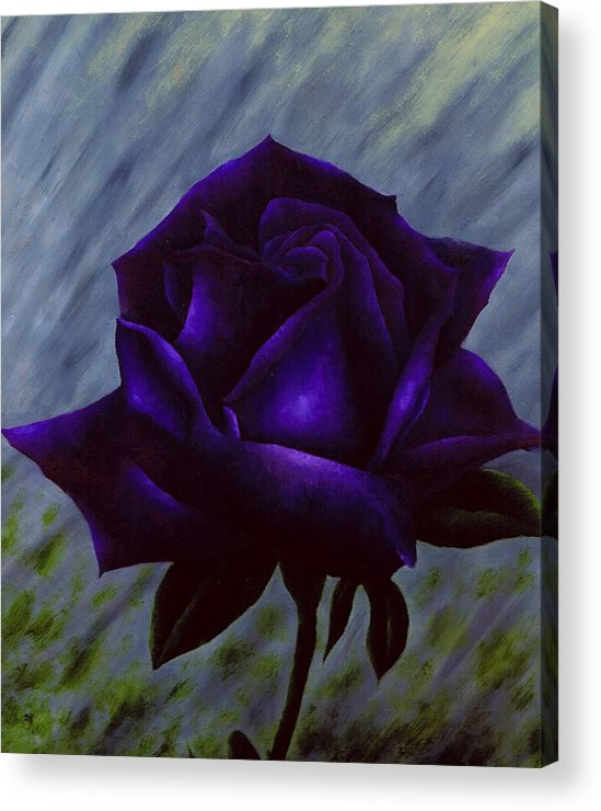 Rose Acrylic Print featuring the painting Purple Rose by Brandon Sharp