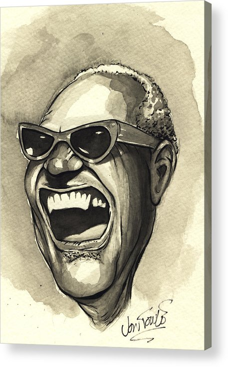 Soul Acrylic Print featuring the drawing Brutha Ray by Jon Towle