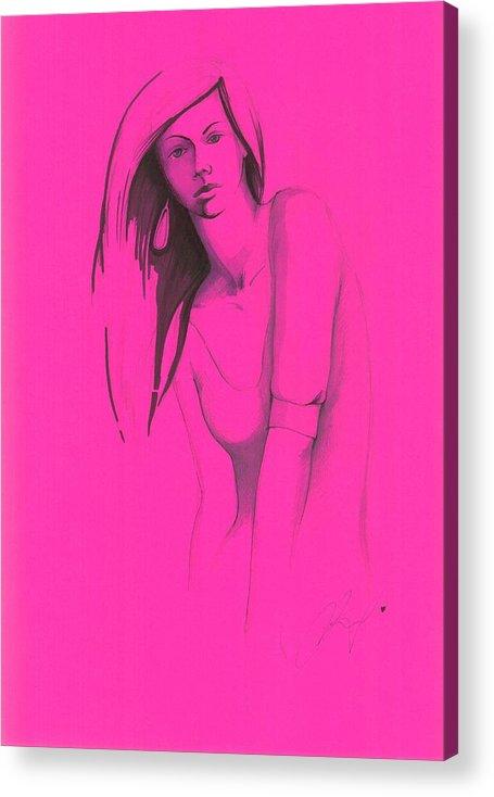 Woman Acrylic Print featuring the painting Finally by Irina Alexandrova