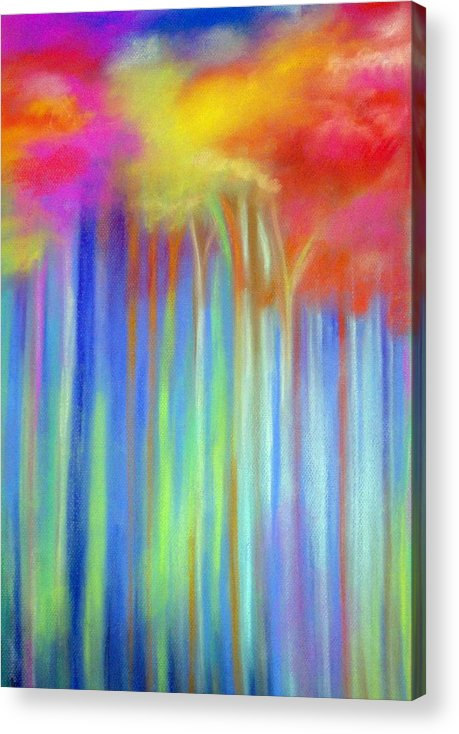 Landscpe Acrylic Print featuring the painting Enchanted Forest by Maritza Bermudez