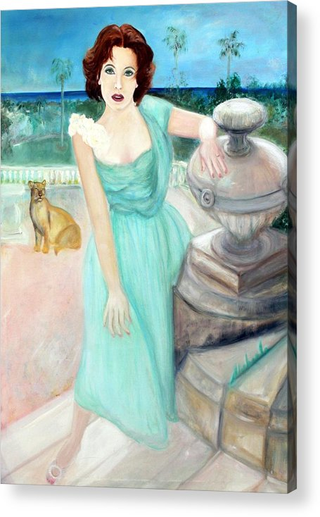 Portrait Acrylic Print featuring the painting Enchanted by Michela Akers