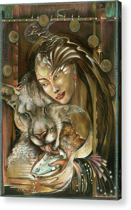Wildlife Acrylic Print featuring the painting Madonna by Blaze Warrender
