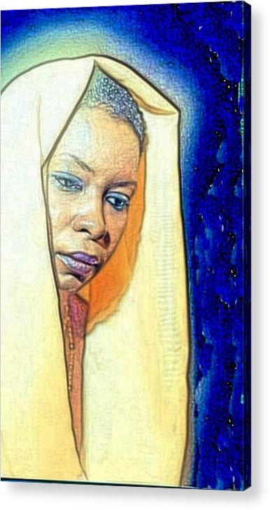 Acrylic Print featuring the painting Queen by Kevin E Taylor Sr MFA
