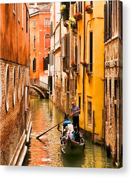 Venice Acrylic Print featuring the photograph Venice Passage by Mick Burkey