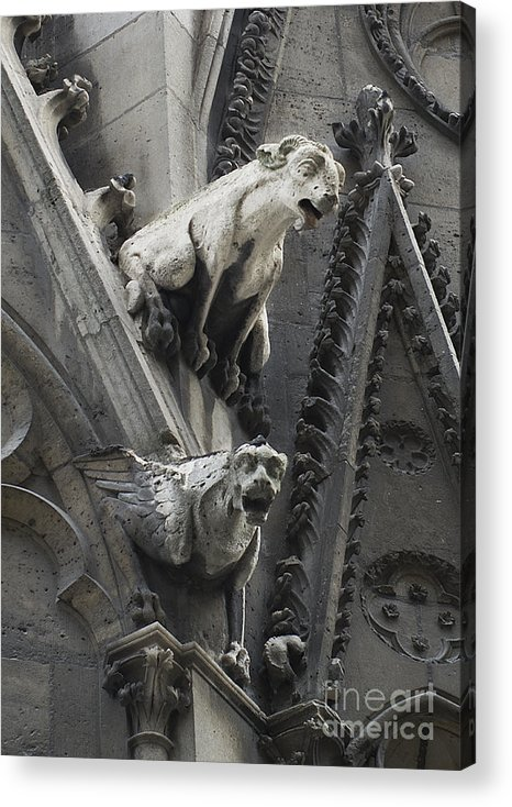 Notre-dame Acrylic Print featuring the photograph Notre-dame by Annette Ovrelid