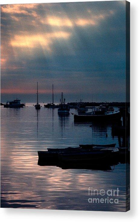 Acrylic Print featuring the photograph Harbor Sunrise by Eli Horowitz