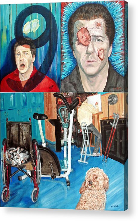 Portrait Acrylic Print featuring the painting Long Disease by Aymeric NOA