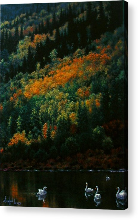 Scenic Acrylic Print featuring the painting Sentinels Of September Serenity by Stephen Lucas