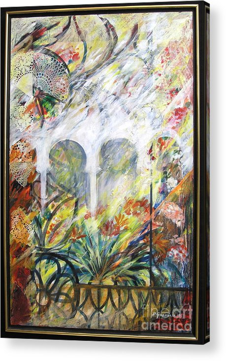 Flowers Acrylic Print featuring the mixed media Toledo by Pnina Granirer