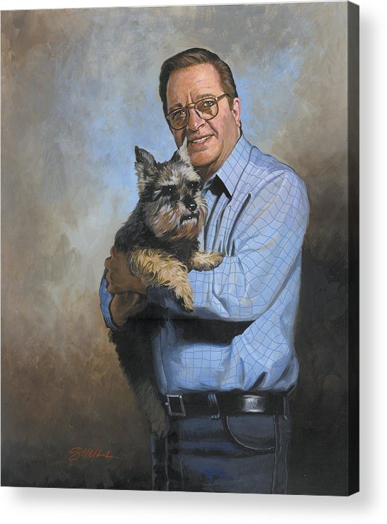 #scooter And Harold Shull Acrylic Print featuring the painting Scooter And Me by Harold Shull