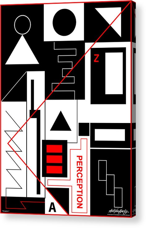 Perception Acrylic Print featuring the digital art Perception I - Text by Asbjorn Lonvig