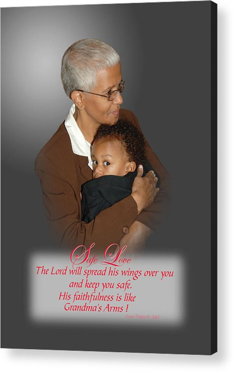 Grandparents Acrylic Print featuring the photograph Safe Love by Richard Gordon