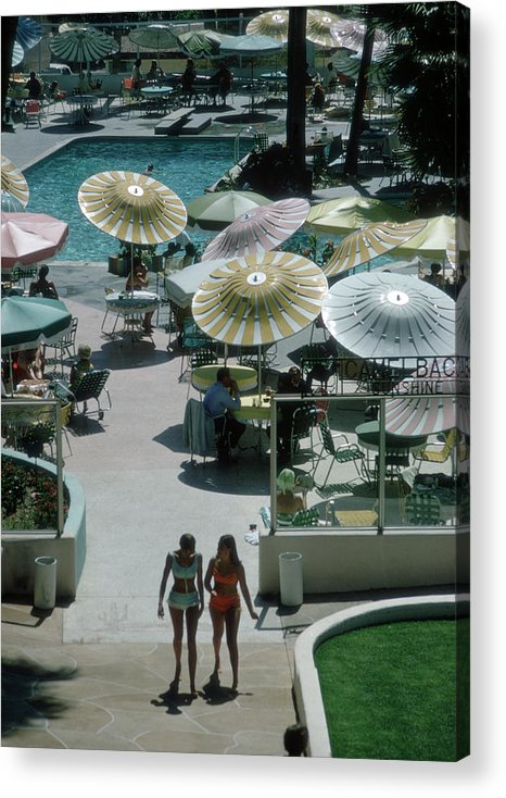 People Acrylic Print featuring the photograph Camelback Inn by Slim Aarons