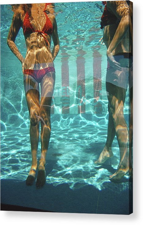Underwater Acrylic Print featuring the photograph Pool At Las Brisas by Slim Aarons