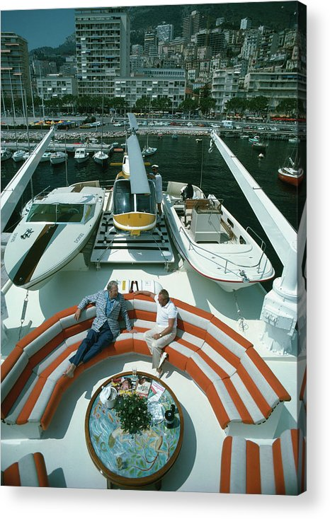 People Acrylic Print featuring the photograph Transport Buffs by Slim Aarons