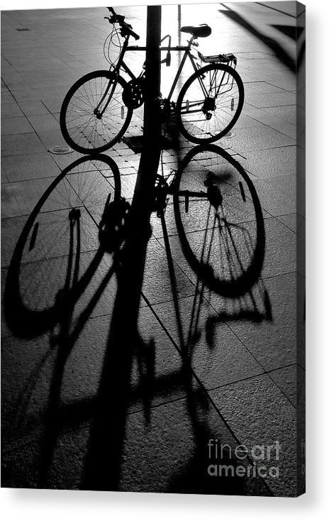 Bicycle Acrylic Print featuring the photograph Bicycle shadow by Sheila Smart Fine Art Photography