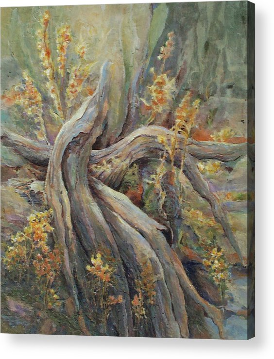 Landscape Acrylic Print featuring the painting New Beginnings by Don Trout