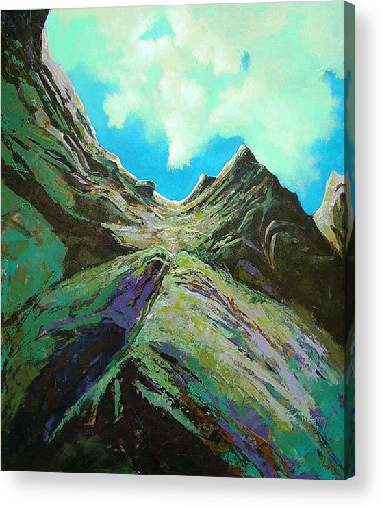 Landscape Acrylic Print featuring the painting The Climb by Dale Witherow