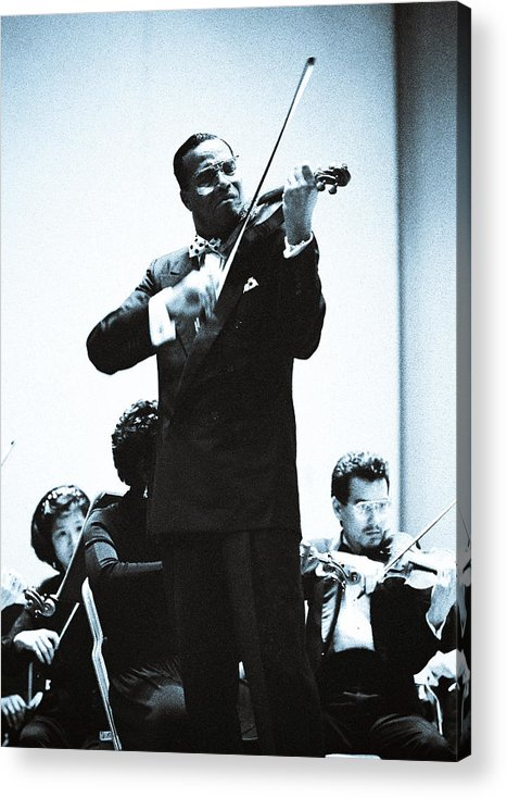 Gateways: Classical Music And The Black Musician Acrylic Print featuring the photograph Louis Farrakhan Performing Mendelssohn's Violin Concerto by Preston Wiles