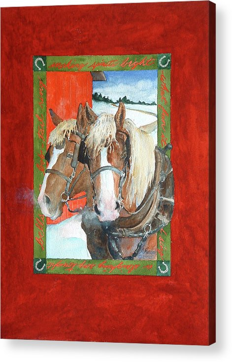 Horses Acrylic Print featuring the painting Bright Spirits by Christie Martin