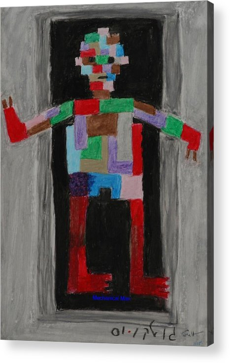 Children Acrylic Print featuring the painting Mechanical Man by Harris Gulko