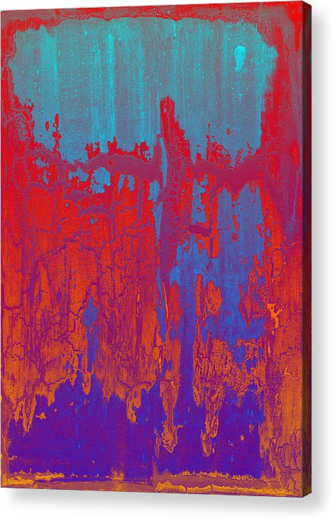 Crackle Acrylic Print featuring the painting Fractures Version 1 by F Michael Wells
