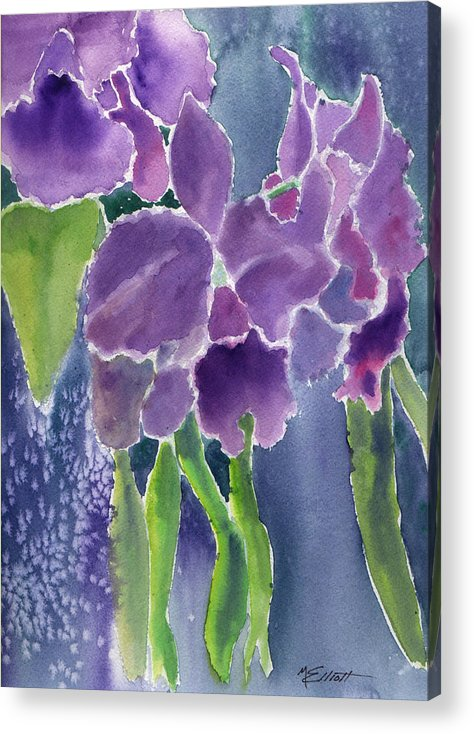 Orchids Acrylic Print featuring the painting Orchid Rain by Marsha Elliott