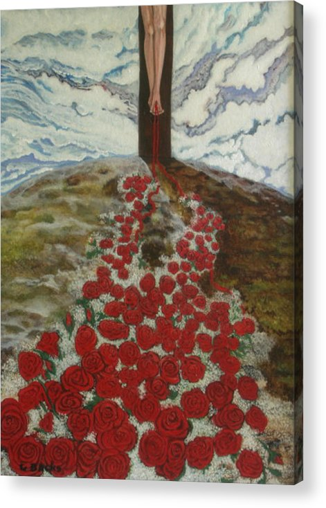 Figurative Acrylic Print featuring the painting Roses by Georgette Backs