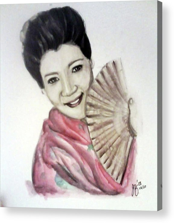 Woman Acrylic Print featuring the painting Geisha by Jennifer Zhao