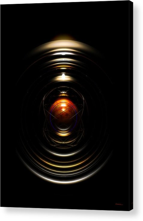 Abstract Acrylic Print featuring the digital art Radial Cage by James Kramer