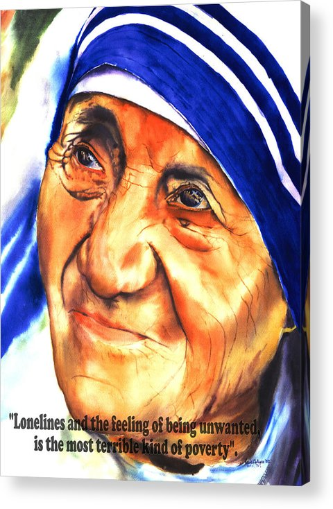 Teresa Acrylic Print featuring the painting Teresa 5 by Luis Leon