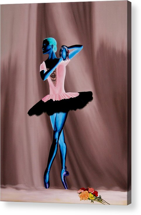 Ballerina Acrylic Print featuring the painting Prima Ballerina by Ivan Rijhoff