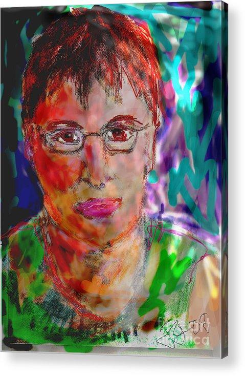 Self Portrait Acrylic Print featuring the mixed media Self Portrait by Joyce Goldin