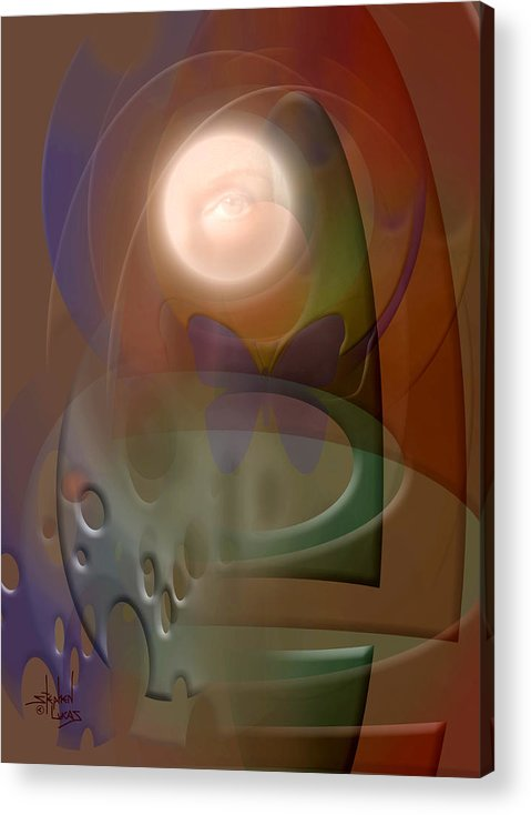 Abstract Acrylic Print featuring the digital art Rebirth by Stephen Lucas