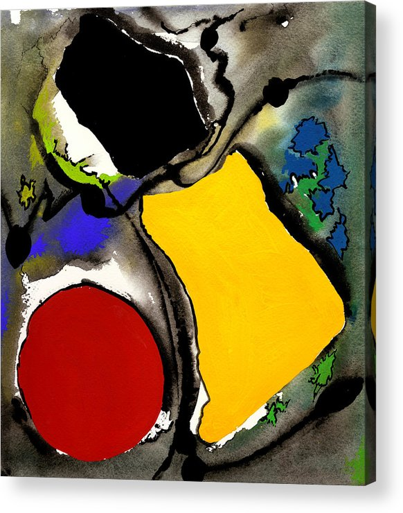 Watercolor Print Abstract Painting Abstract Print Contemporary Print Watercolor Gouache Acrylic Print featuring the painting Fantasia by Ralf M Broughton