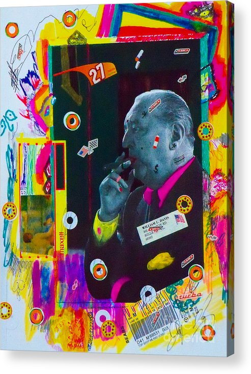 Mixed Media Collage. Acrylic Print featuring the mixed media Mr. Mcgoo by Bill Davis