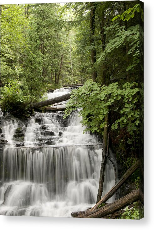 Wagner Falls Acrylic Print featuring the photograph Serenity by Cindy Lindow