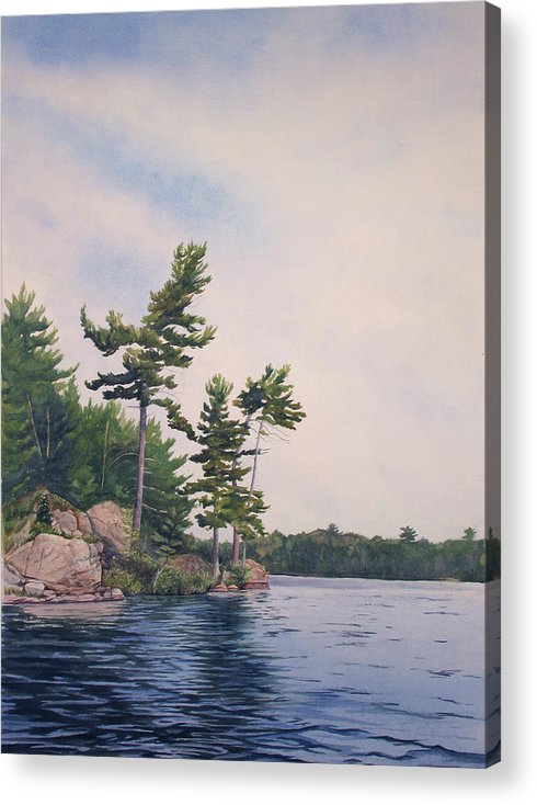 Canadian Shield Acrylic Print featuring the painting Canadian Shield Sculpture No. 2 by Debbie Homewood