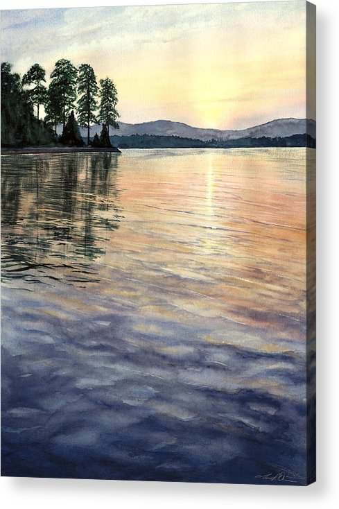 Water Acrylic Print featuring the painting Evening Shades by Lane Owen