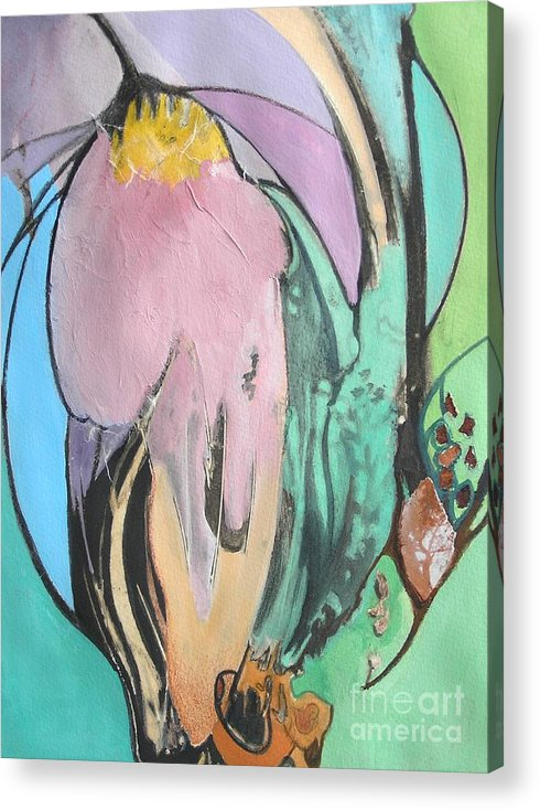 Abstract Acrylic Print featuring the painting Flowers To Seeds by Barbara Couse Wilson