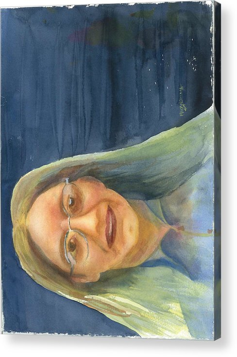 Lady Acrylic Print featuring the painting Iowa Lady by Mary Lomma