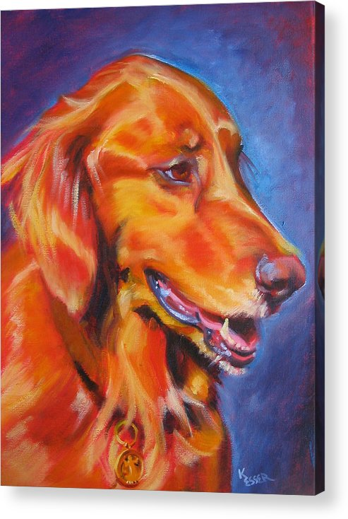 Dog Portrait Acrylic Print featuring the painting Madison by Kaytee Esser